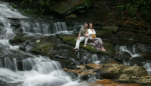 Waterfall Wedding by Tom McCool